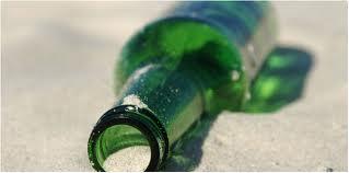 bottle sand